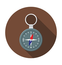 Flat design modern of compass icon camping hiking vector