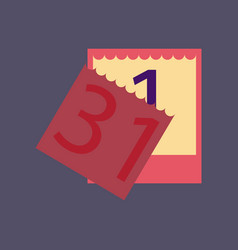 Flat on background of tear-off calendar vector