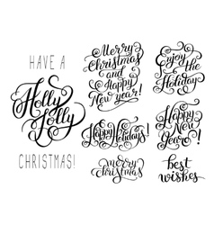 Hand lettering christmas phrase design vector