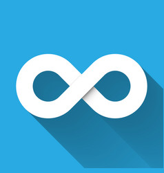 Infinity symbol icon concept of infinite vector
