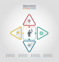 infographic business concept with 4 options vector image vector image
