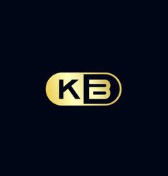 Initial letter kb logo template design vector
