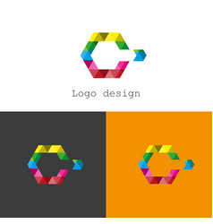 logo c design brochure vector image