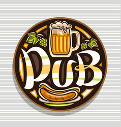 Logo for beer pub vector