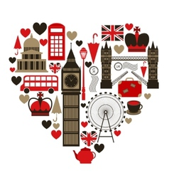 Love london heart symbol vector