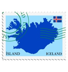 Mail to-from Iceland vector