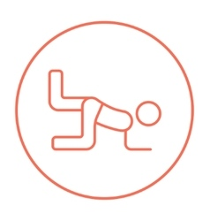 Man exercising buttocks line icon vector image