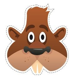 Mask beaver vector image