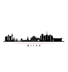milan city skyline horizontal banner vector image
