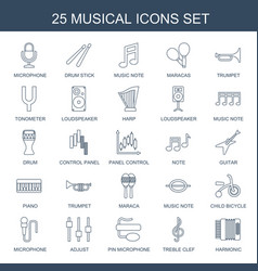 musical icons vector image