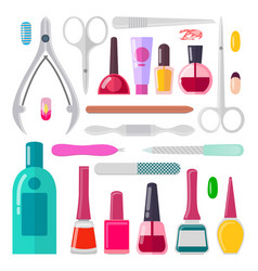 nail art collection of objects vector image