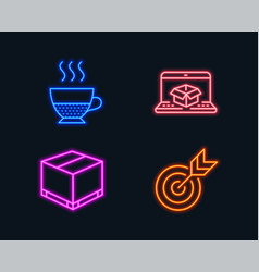 Online delivery doppio and delivery box icons vector