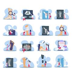 Orthopedist icons set vector