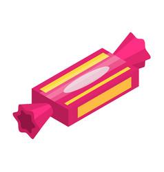 pink sweet bonbon icon isometric style vector image