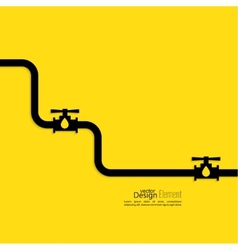 Piping with shutoff valve vector image