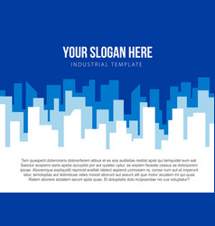 poster template with blue city skyline vector image