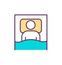 Practicing good sleep habits rgb color icon vector