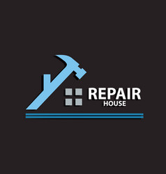 repair house logo vector image