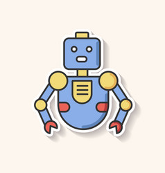 Robot patch innovative technology vector