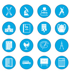 school icon blue vector image