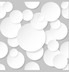 Seamless texture circles on grey background vector