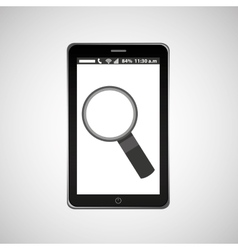 search mobile phone navigation vector image