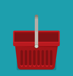 shopping basket flat vector image