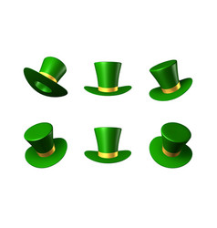St patricks day green hat with a gold ribbon vector