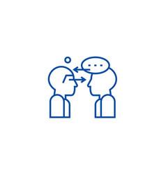 Synergy talks line icon concept synergy talks vector