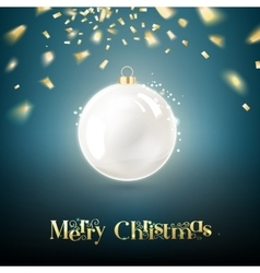 The Christmas ball vector