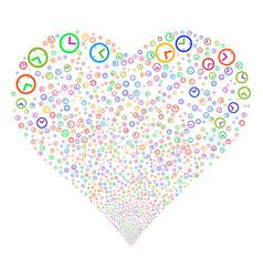 Time fireworks heart vector