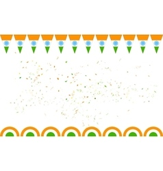 Tricolor India banner for sale and promotion vector image vector image