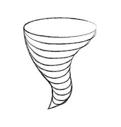 twister storm weather danger symbol vector image