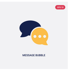 two color message bubble icon from ultimate vector image