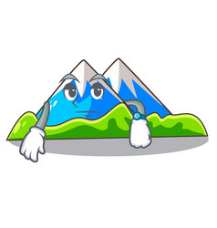 Waiting mountain cartoon images are very beautiful vector