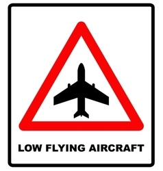 Warning signs of low-flying aircraft vector image