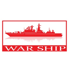 Warship vector