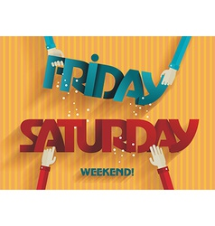 Weekend Coming - Flat Design vector image