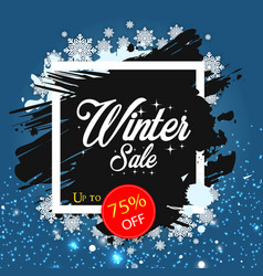 Winter sale up to 75 off image vector