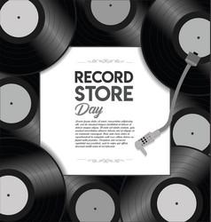 world record store day retro design template vector image