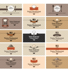 cards on food vector image