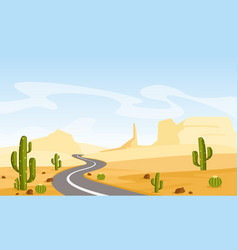 desert landscape with vector image