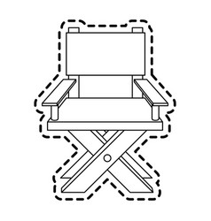 Director chair icon image vector