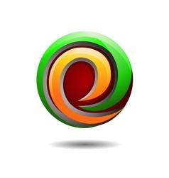 Glossy Internet Company Logo vector image vector image