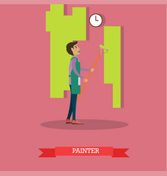 House painter painting wall vector