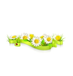 Ribbon in the grass vector image