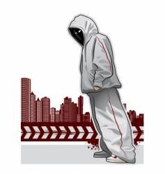 urban gangster vector image vector image