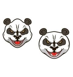 Angry panda bear vector image vector image
