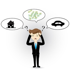 Businessman headache vector image