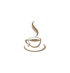 coffee cup cafe logo vector image vector image